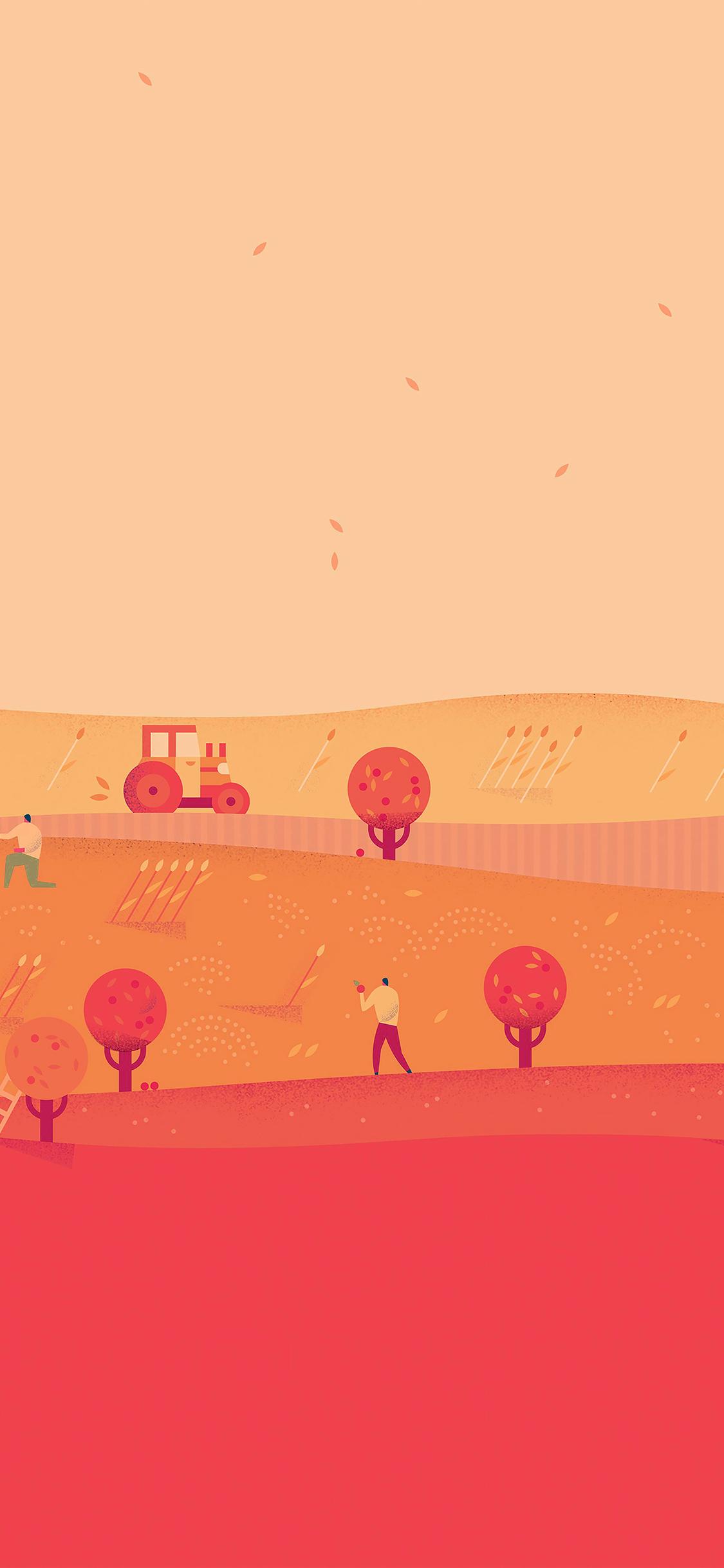 Ag97 Google Lollipop October Red Illust Art Wallpaper
