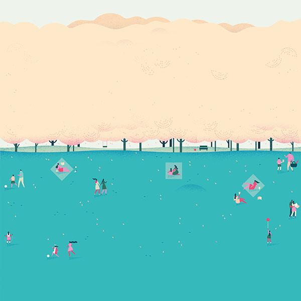 Google Calendar Art : Ah google lollipop blue picnic illust art