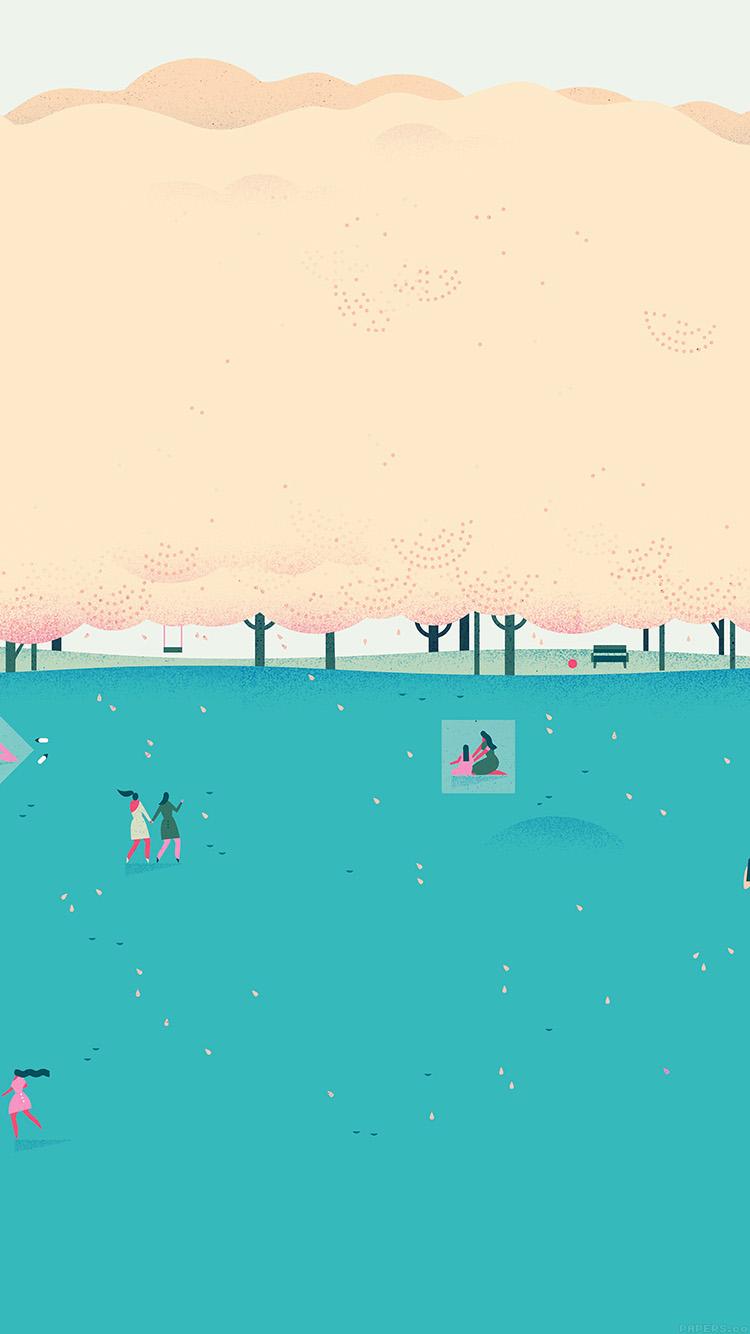 Papers.co-iPhone5-iphone6-plus-wallpaper-ah01-google-lollipop-blue-picnic-illust-art
