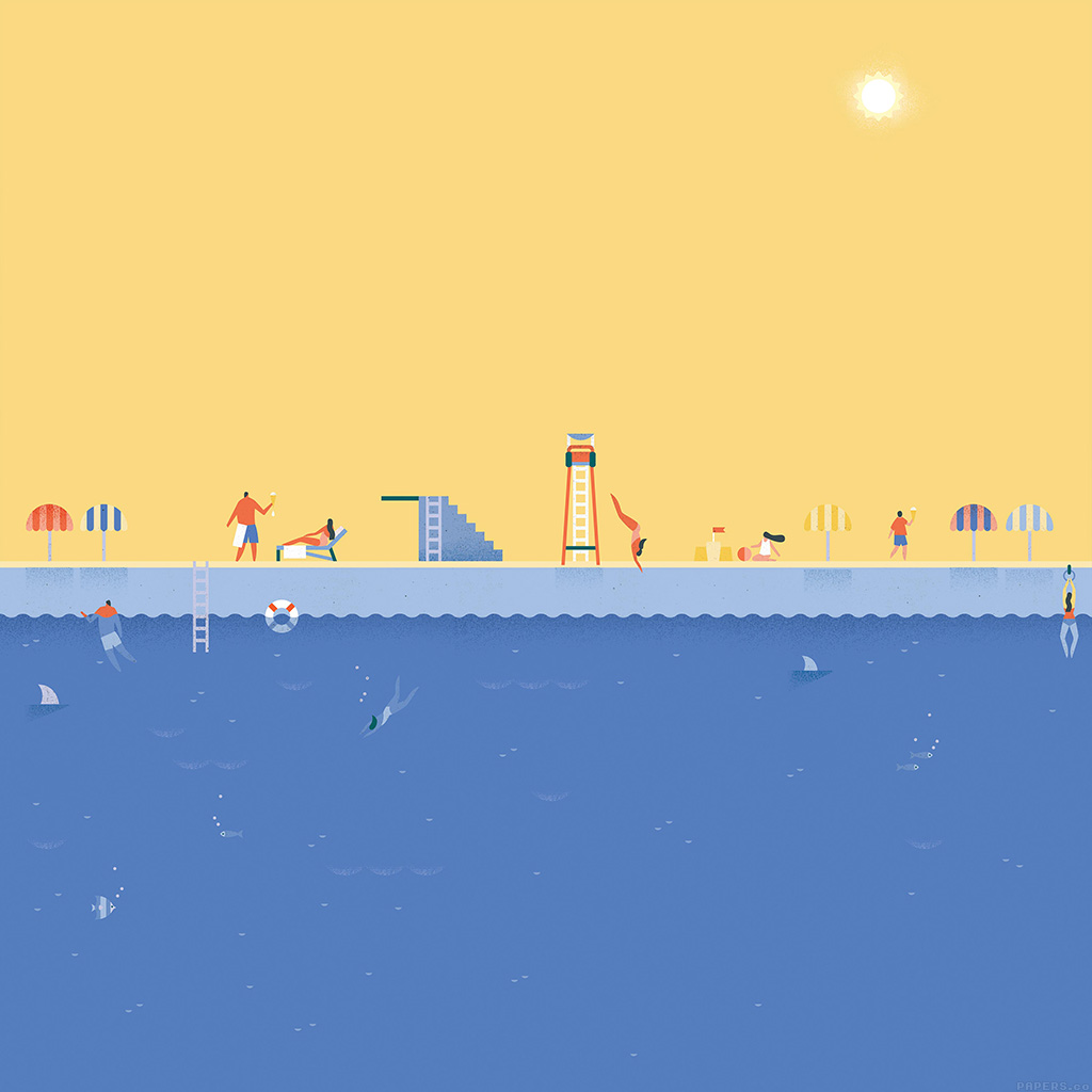android-wallpaper-ah02-google-lollipop-june-swim-illust-art-wallpaper