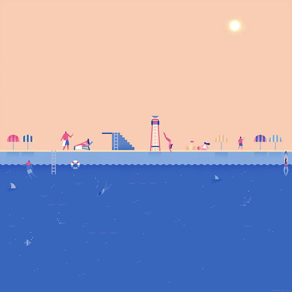 android-wallpaper-ah03-google-lollipop-june-blue-swim-illust-art-wallpaper