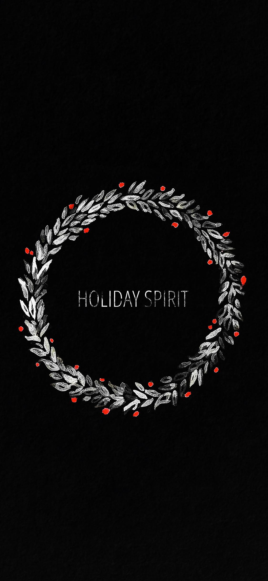 iPhoneXpapers.com-Apple-iPhone-wallpaper-ah24-holiday-spirit-minimal-dark-christmas-art