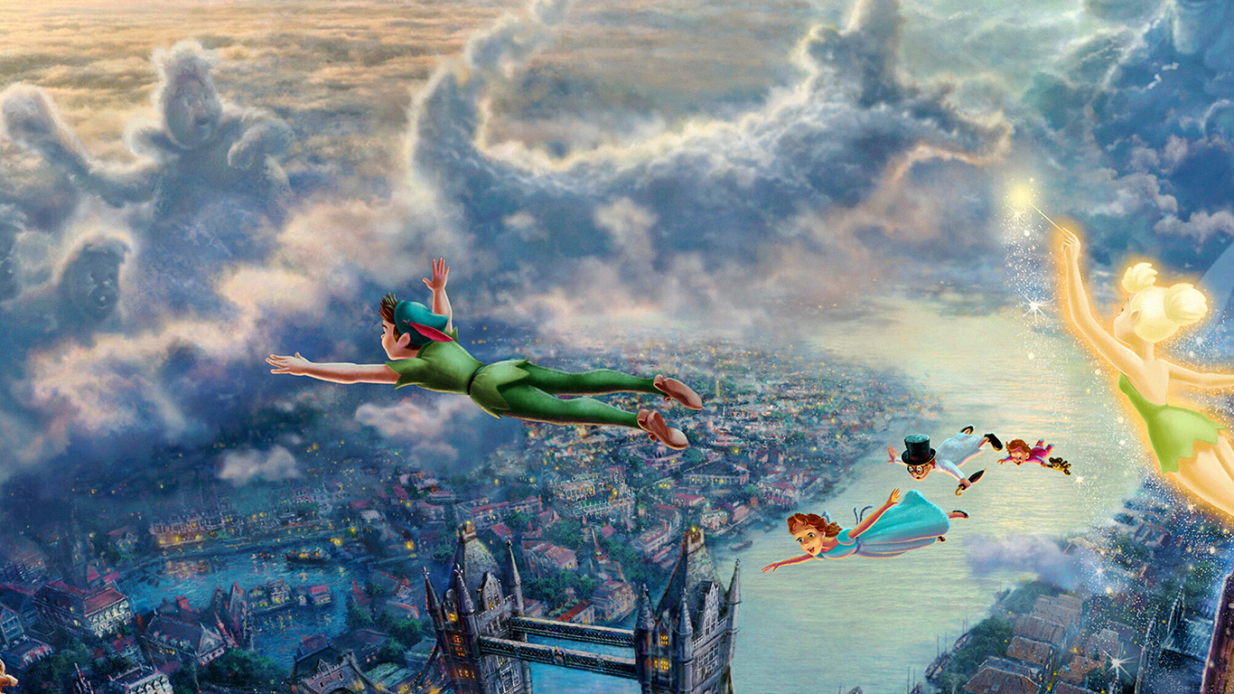 iPapers.co-Apple-iPhone-iPad-Macbook-iMac-wallpaper-ah26-peterpan-illust-art-thomas-kinkade-wallpaper