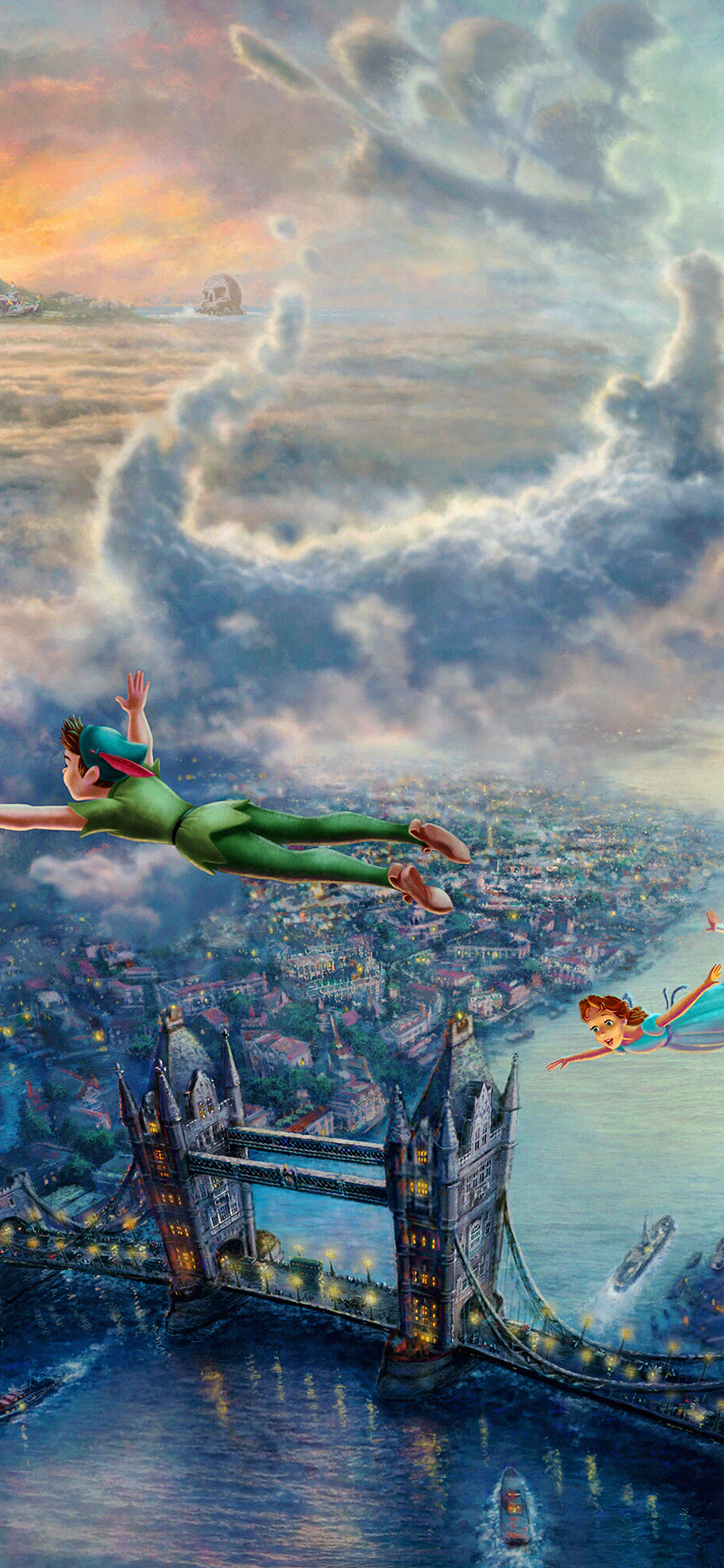 iPhoneXpapers.com-Apple-iPhone-wallpaper-ah26-peterpan-illust-art-thomas-kinkade