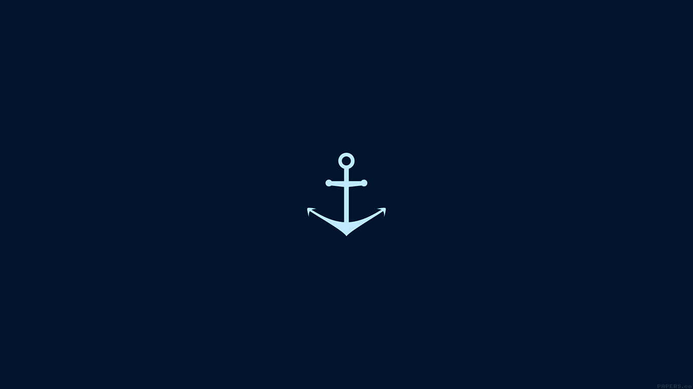 iPapers.co-Apple-iPhone-iPad-Macbook-iMac-wallpaper-ah28-minimal-sea-anchor-logo-blue-art-wallpaper