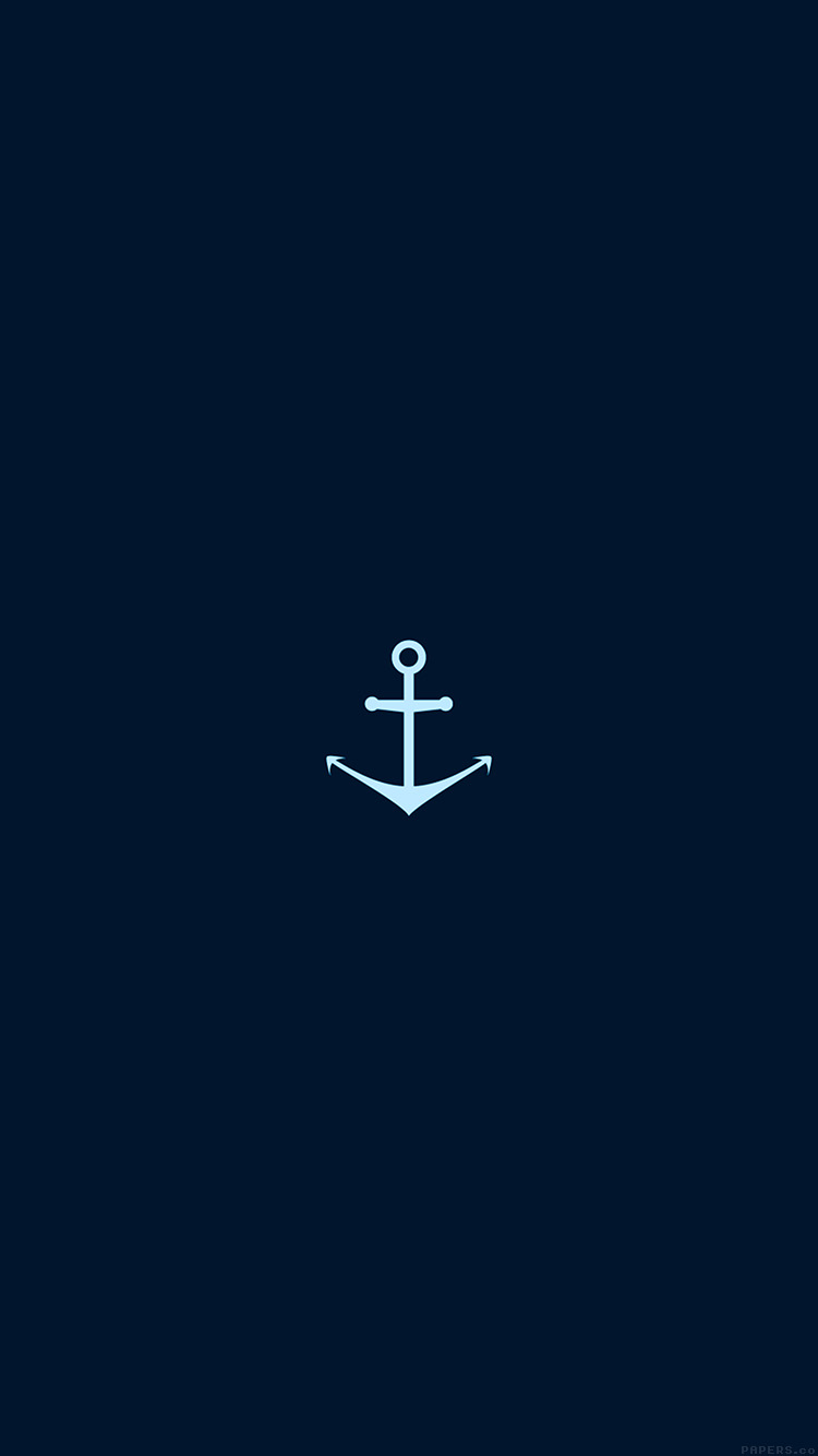 Papers.co-iPhone5-iphone6-plus-wallpaper-ah28-minimal-sea-anchor-logo-blue-art