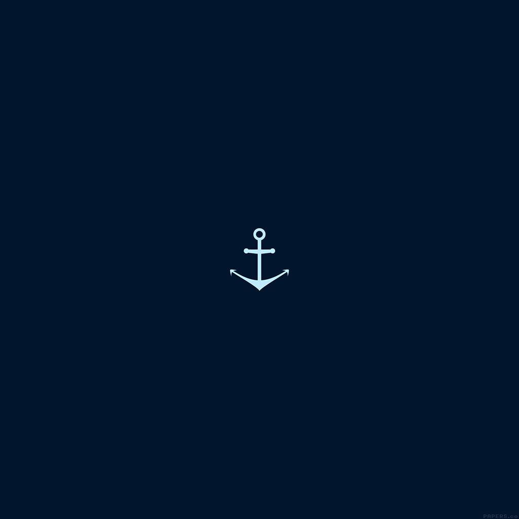 android-wallpaper-ah28-minimal-sea-anchor-logo-blue-art-wallpaper