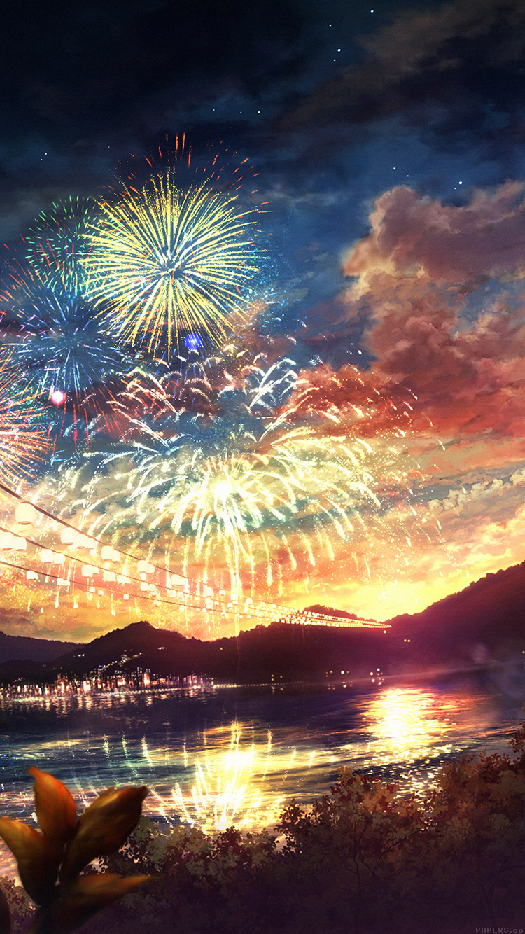iPhone6papers.co-Apple-iPhone-6-iphone6-plus-wallpaper-ah44-firework-dark-night-anime-art-illust