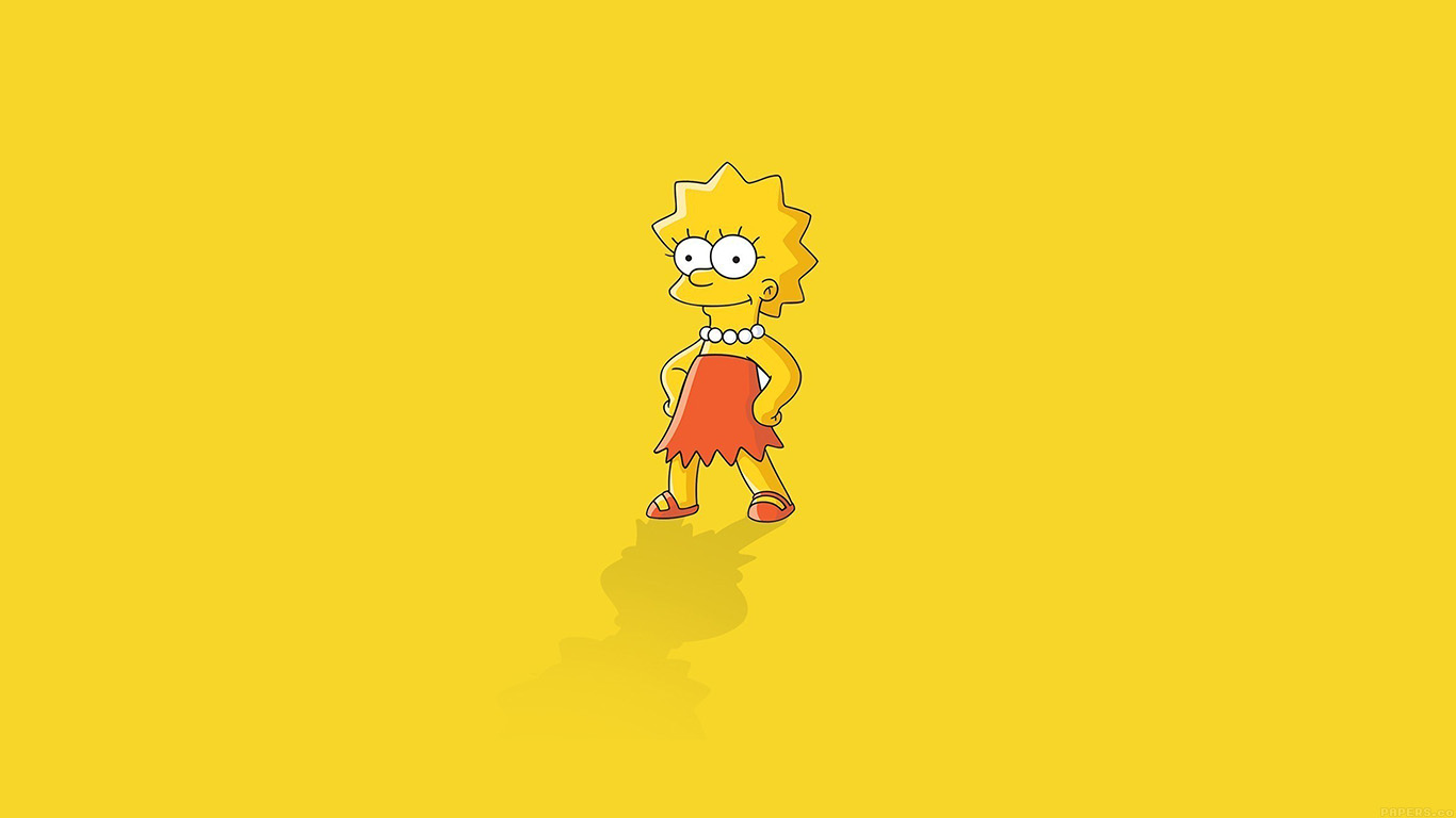 iPapers.co-Apple-iPhone-iPad-Macbook-iMac-wallpaper-ah61-lisa-simpson-minimal-simple-illust-cartoon-wallpaper