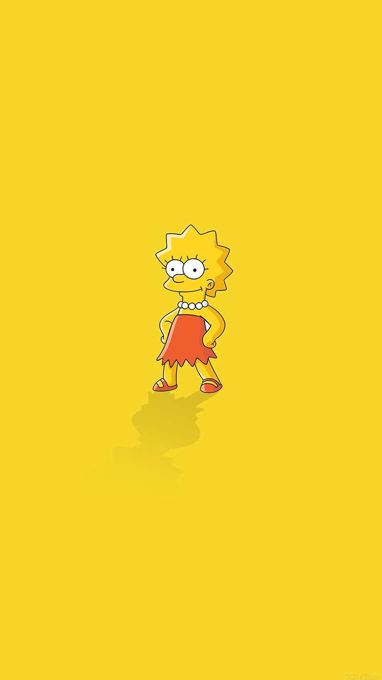 iPhone7papers.com-Apple-iPhone7-iphone7plus-wallpaper-ah61-lisa-simpson-minimal-simple-illust-cartoon