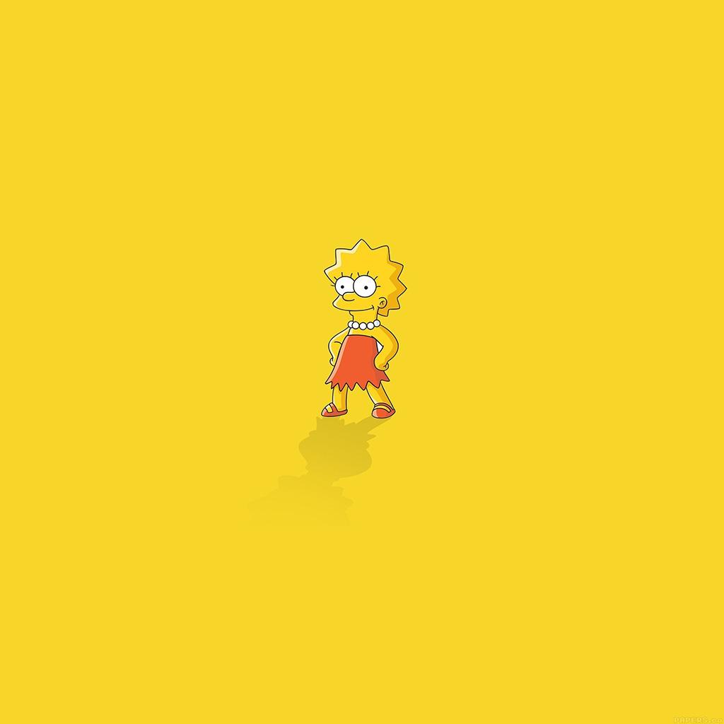android-wallpaper-ah61-lisa-simpson-minimal-simple-illust-cartoon-wallpaper