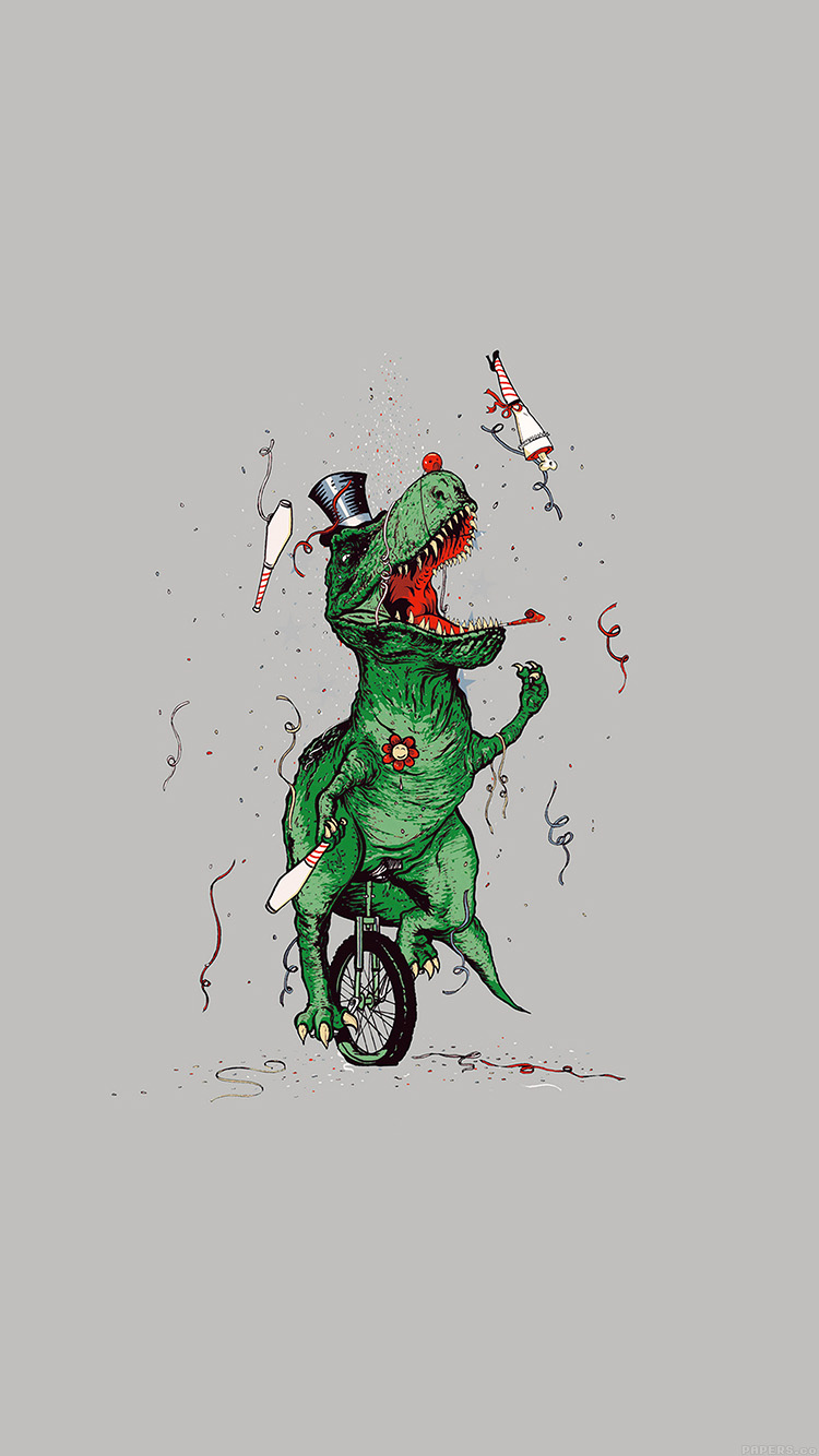 Papers.co-iPhone5-iphone6-plus-wallpaper-ah73-dinosaur-party-new-year-illust-art