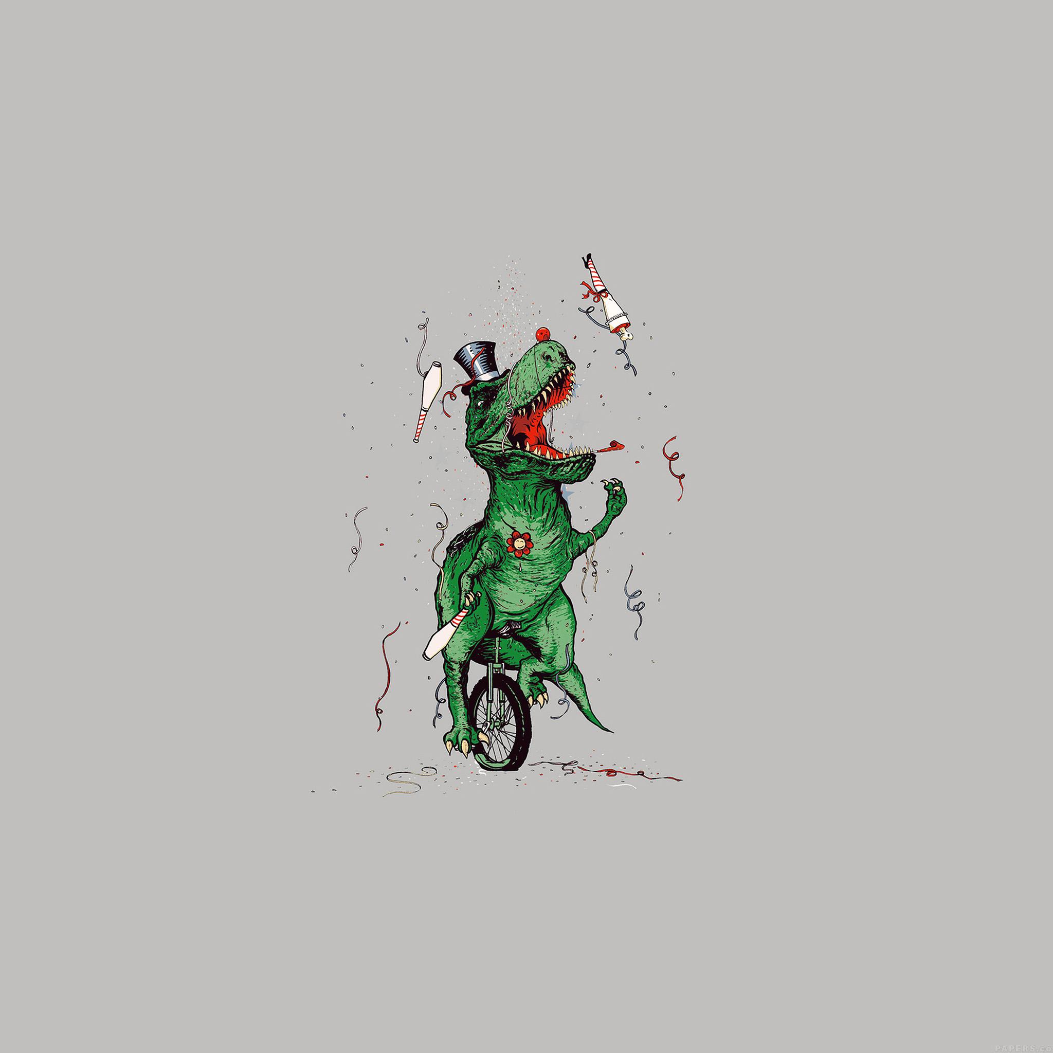Ah73 Dinosaur Party New Year Illust Art on Nokia Tab