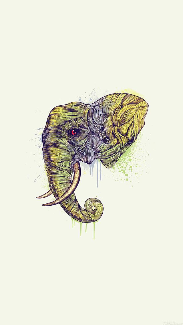 freeios8.com-iphone-4-5-6-plus-ipad-ios8-ah77-elephant-art-yellow-illust-drawing-animal