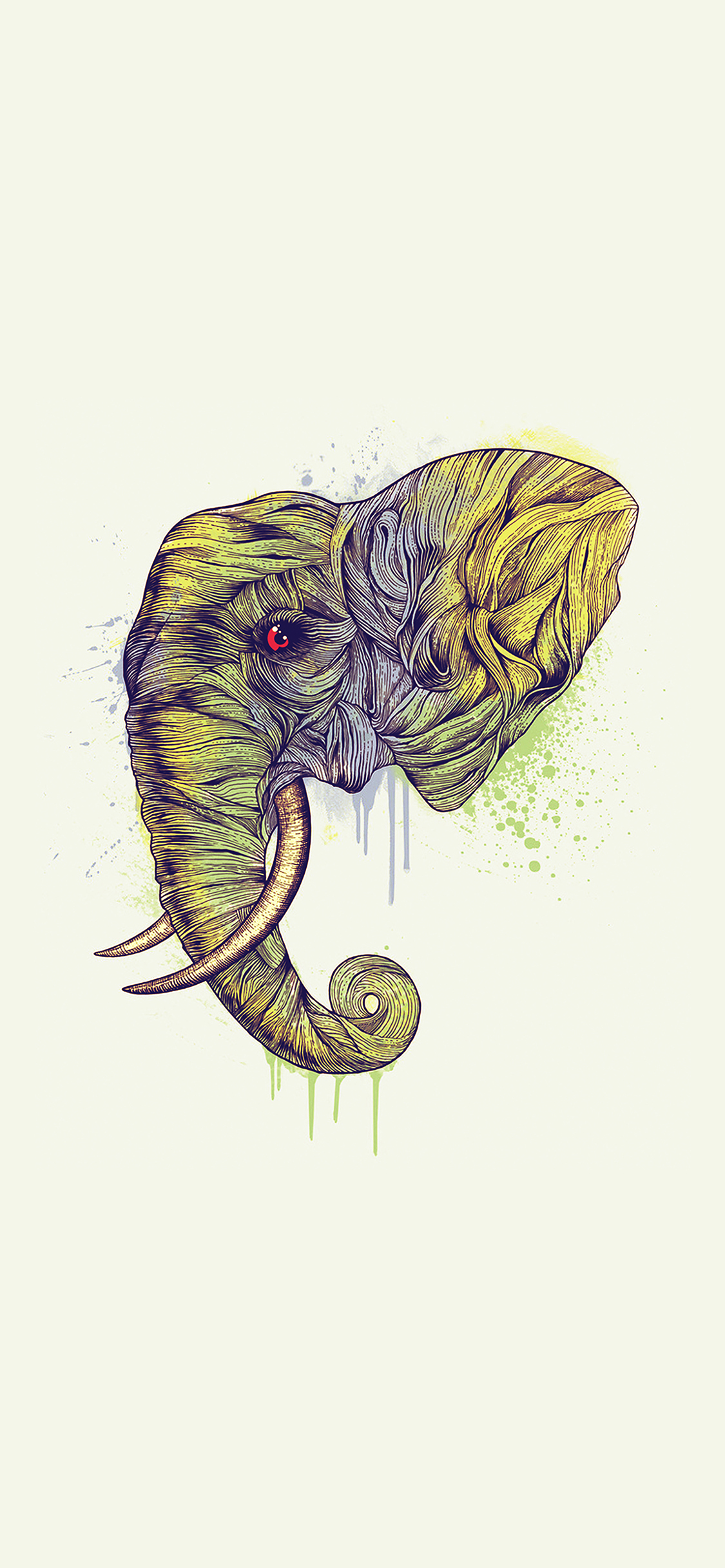 iPhonexpapers.com-Apple-iPhone-wallpaper-ah77-elephant-art-yellow-illust-drawing-animal