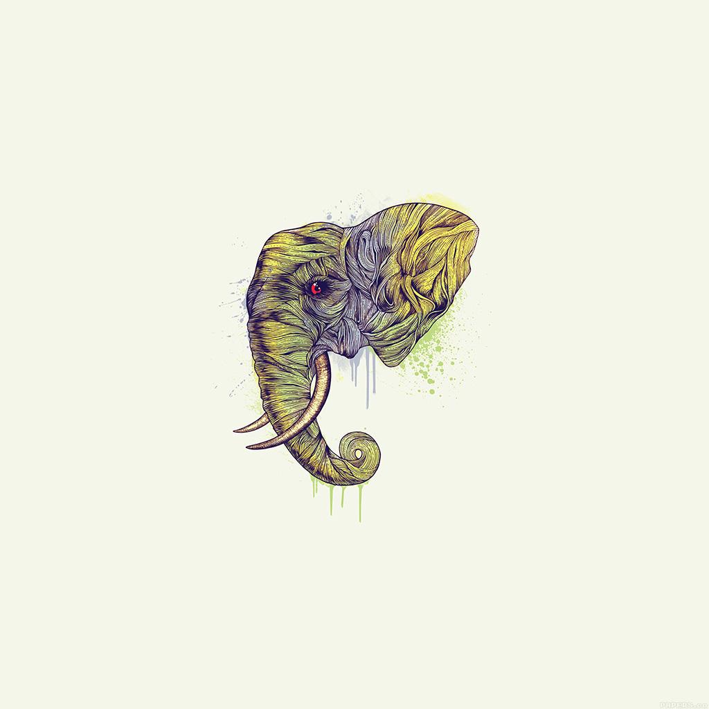 wallpaper-ah77-elephant-art-yellow-illust-drawing-animal-wallpaper