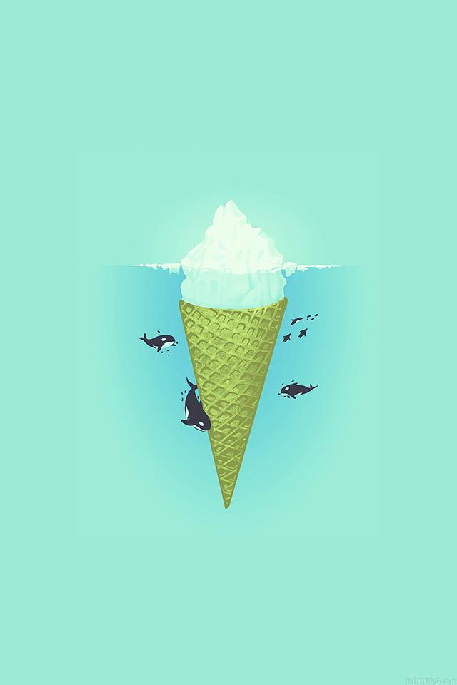 freeios7.com-iphone-4-iphone-5-ios7-wallpaperah80-whale-illust-green-sea-icecream-iceberg-iphone4