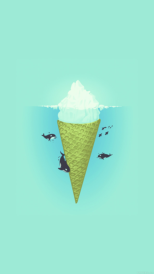 freeios8.com-iphone-4-5-6-plus-ipad-ios8-ah80-whale-illust-green-sea-icecream-iceberg