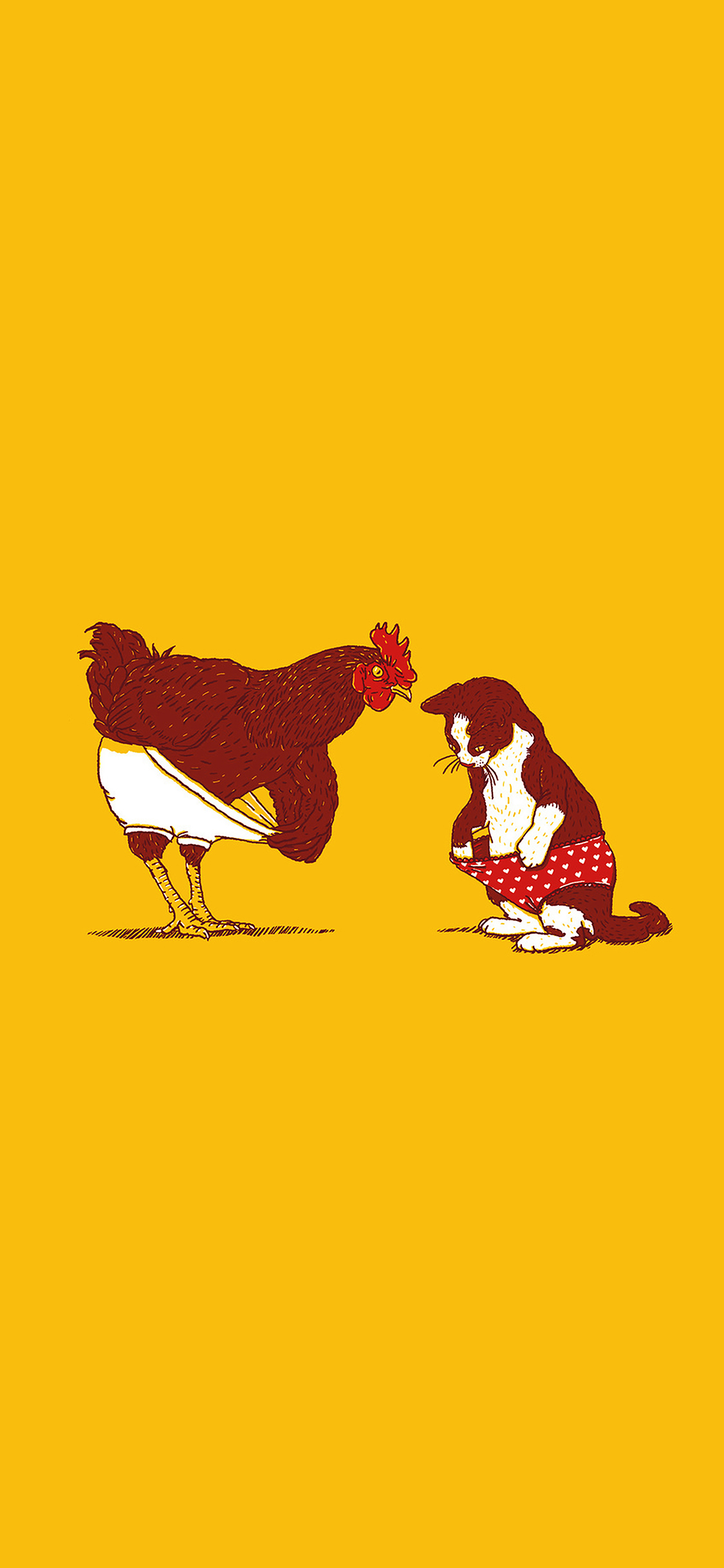 iPhoneXpapers.com-Apple-iPhone-wallpaper-ah82-cat-chicken-underwear-cute-illust-art