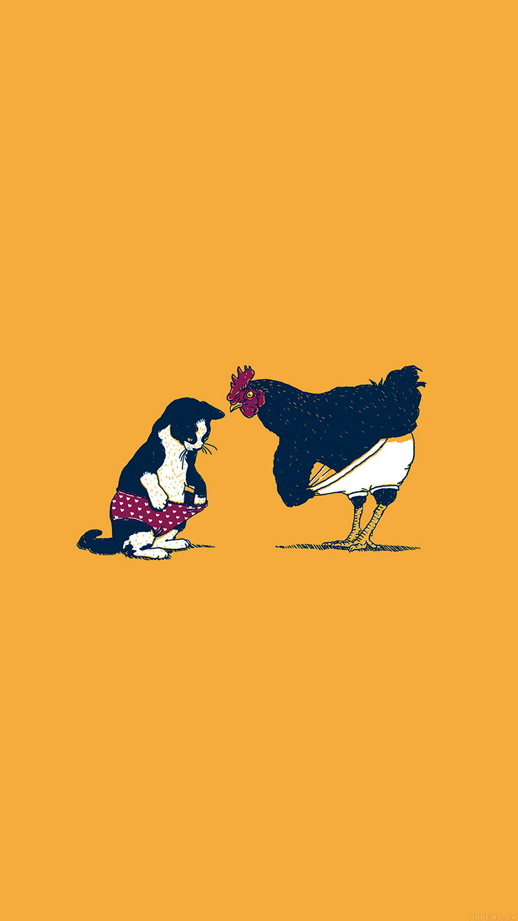 iPhone6papers.co-Apple-iPhone-6-iphone6-plus-wallpaper-ah83-cat-chicken-yellow-underwear-cute-illust-art