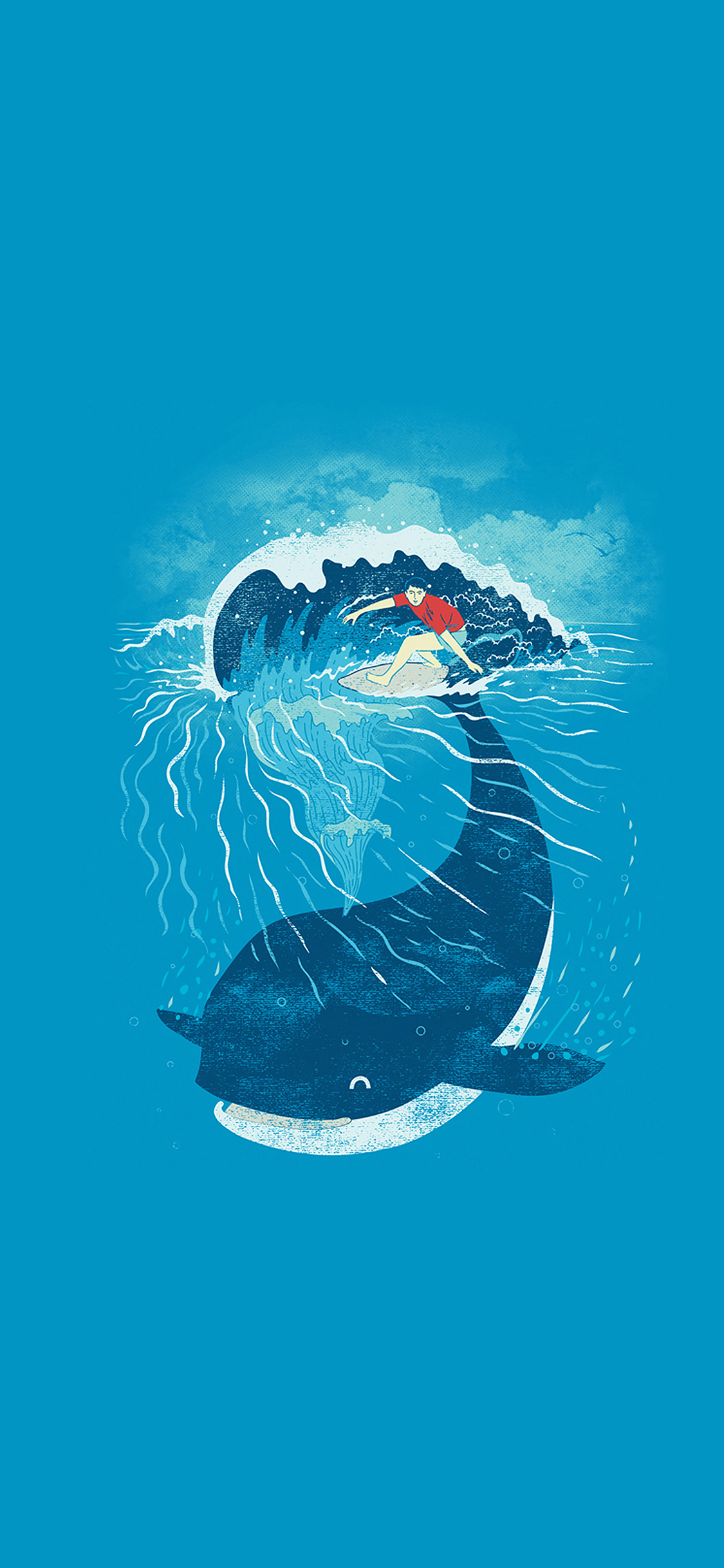iPhoneXpapers.com-Apple-iPhone-wallpaper-ah84-whale-wave-animal-illust-art-sea