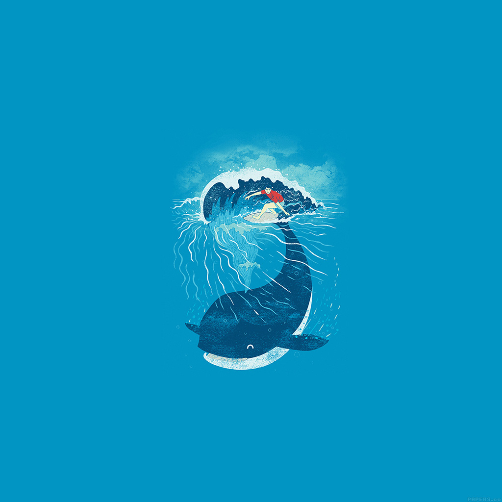 android-wallpaper-ah84-whale-wave-animal-illust-art-sea-wallpaper
