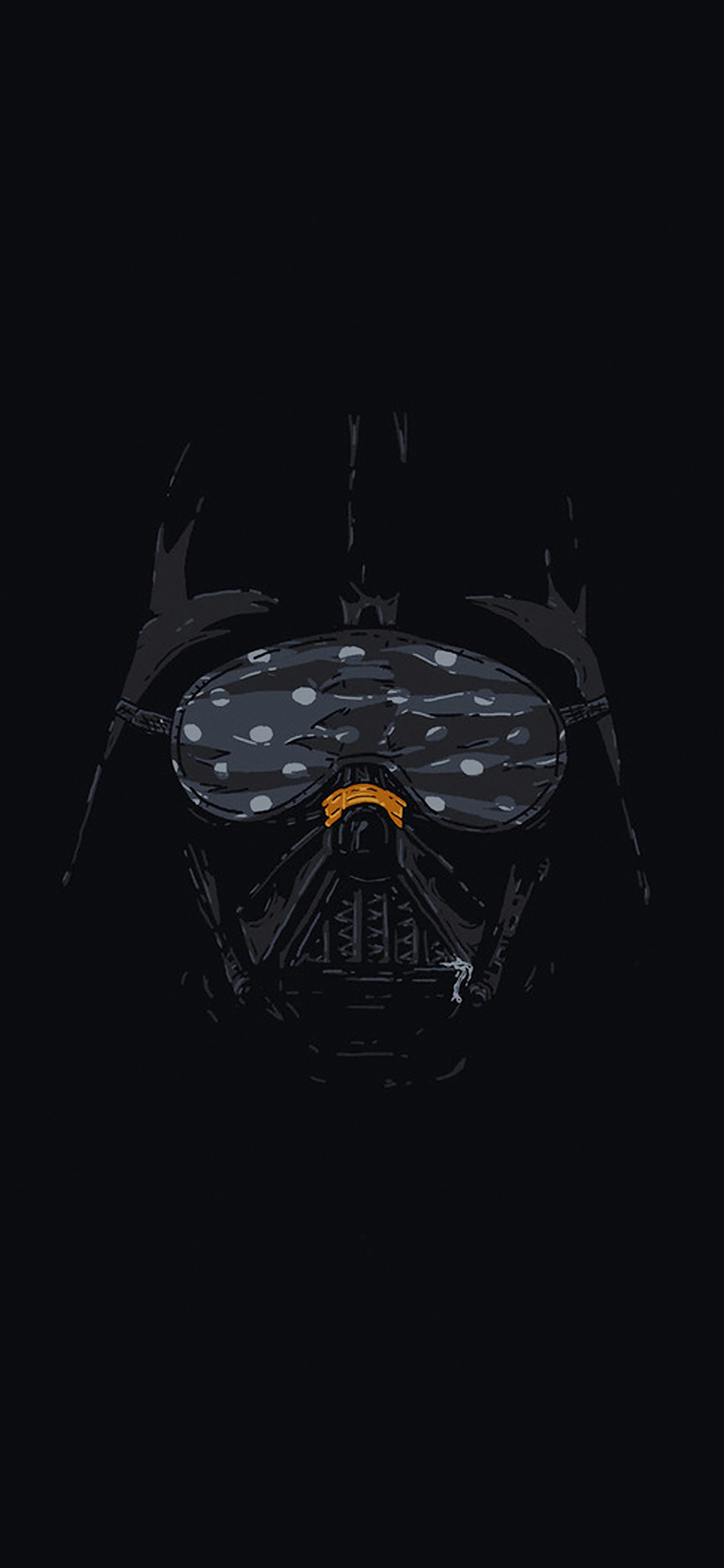 Iphonexpapers Ah87 Darth Vader Minimal Starwars Illust Art