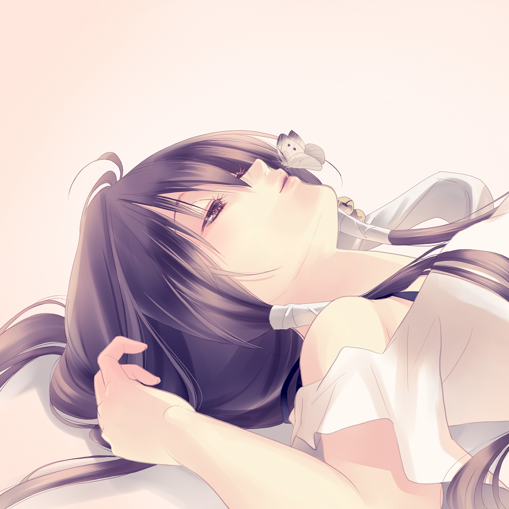 ah93-butterfly-blue-anime-girl-illust-art - Papers.co