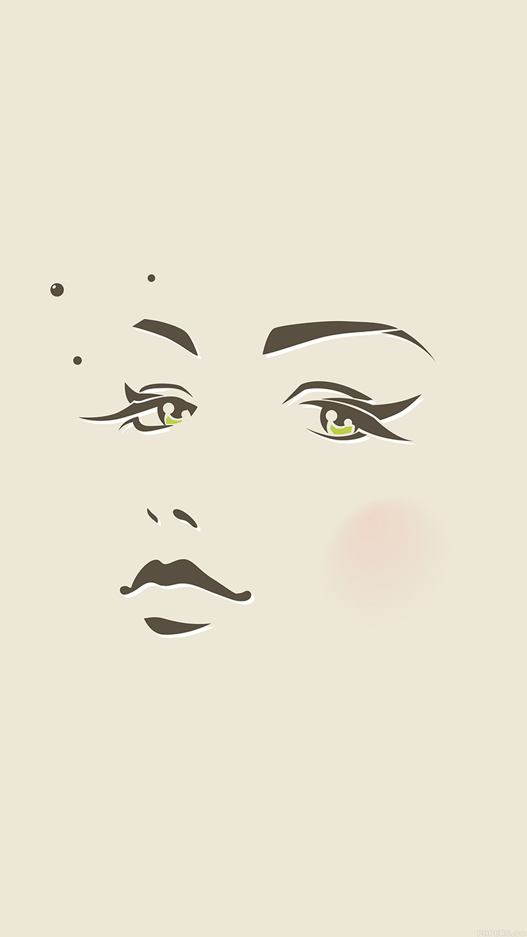 iPhone6papers.co-Apple-iPhone-6-iphone6-plus-wallpaper-ah97-girl-face-illust-art-minimal