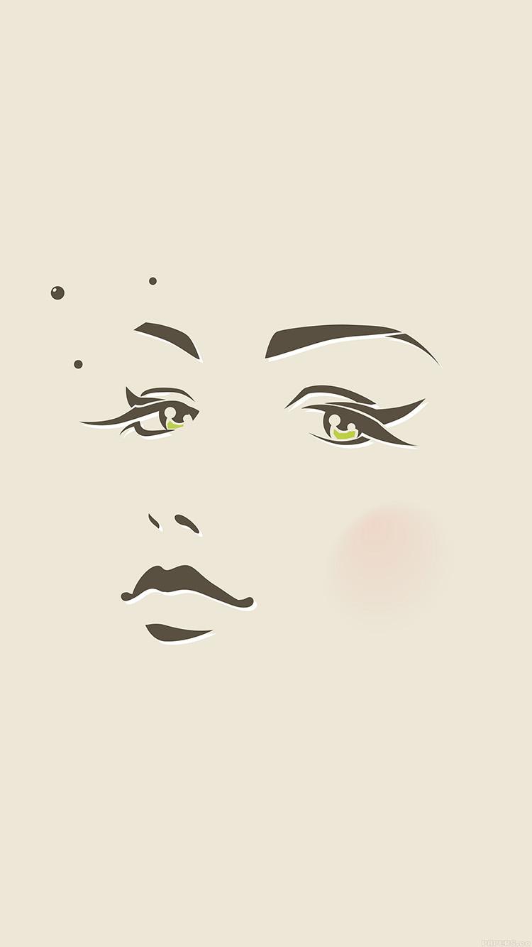 iPhone6papers.co-Apple-iPhone-6-iphone6-plus-wallpaper-ah97-girl-face-illust-art-minimal