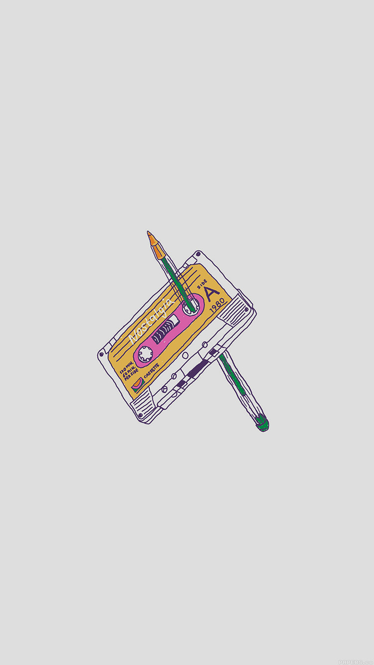 iPhone6papers.co-Apple-iPhone-6-iphone6-plus-wallpaper-ah98-cassette-tape-old-illust-minimal