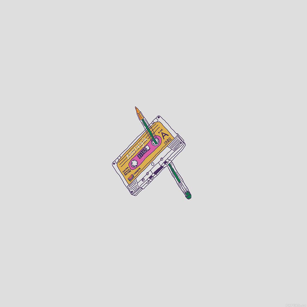 android-wallpaper-ah98-cassette-tape-old-illust-minimal-wallpaper