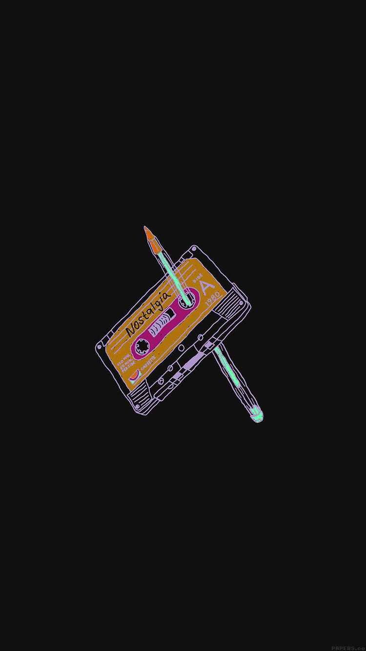 iPhone6papers.co-Apple-iPhone-6-iphone6-plus-wallpaper-ah99-cassette-tape-old-illust-minimal-dark