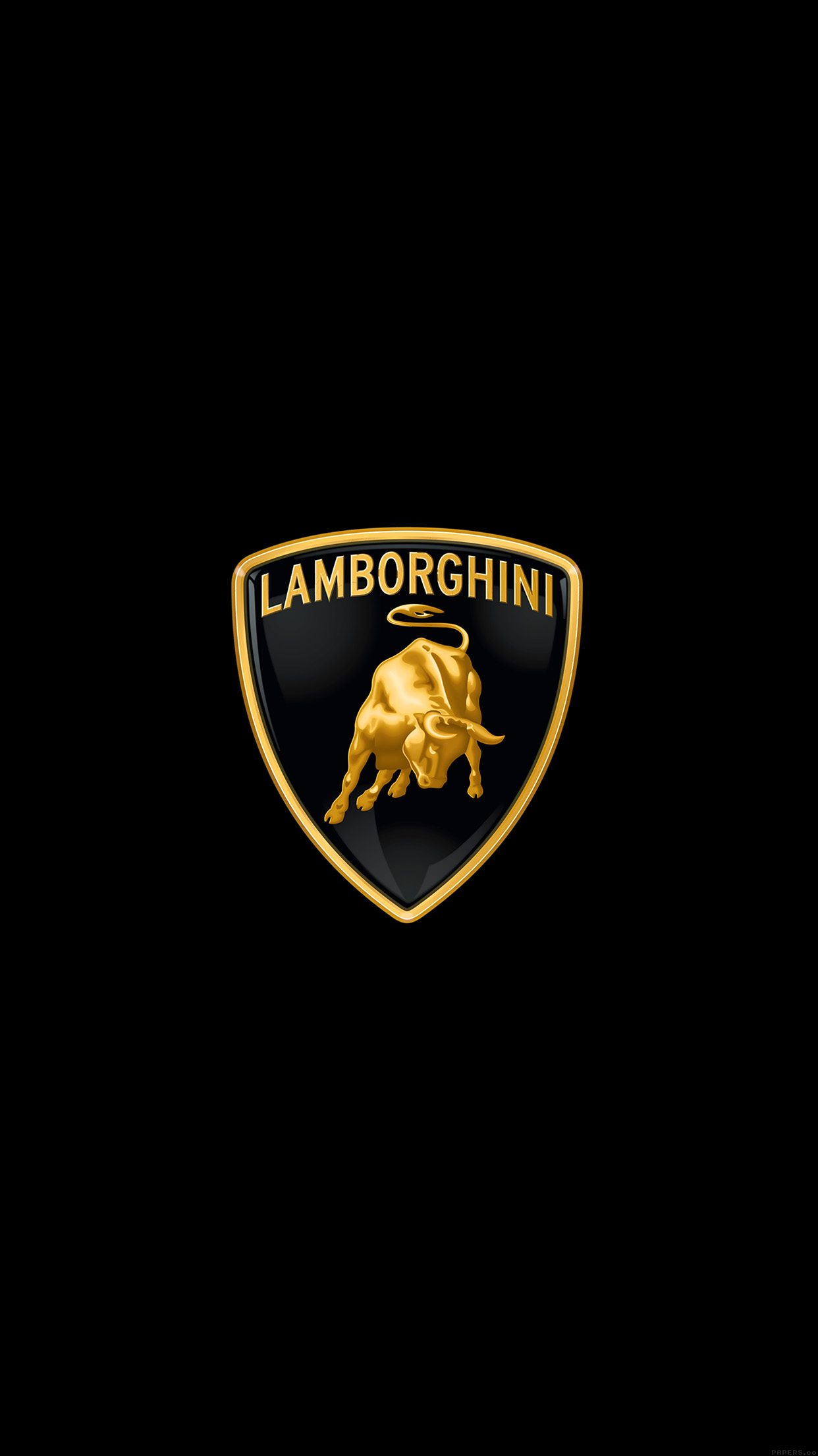 Iphone6papers Ai02 Lamborghini Logo Art Car Minimal Dark