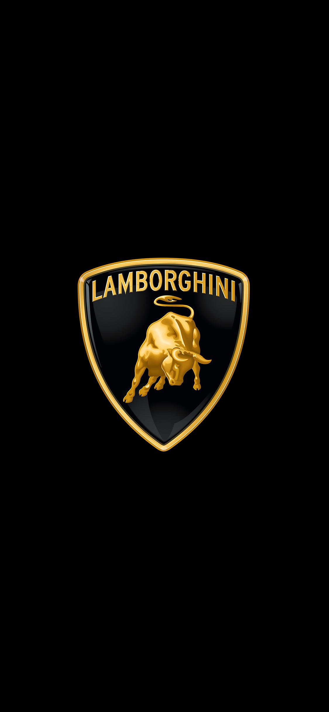 Ai02 Lamborghini Logo Art Car Minimal Dark Papers Co