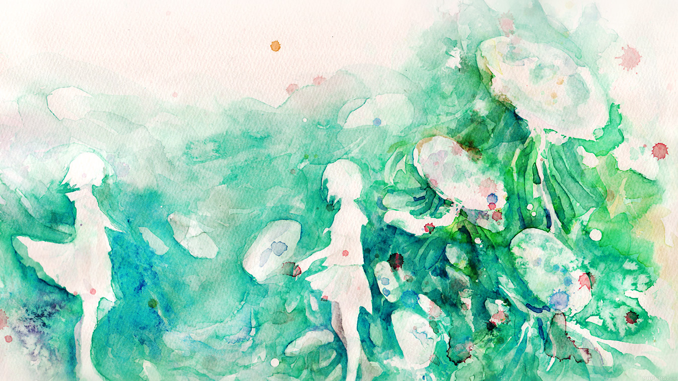 desktop-wallpaper-laptop-mac-macbook-air-ai07-watercolor-green-girl-nature-art-illust-wallpaper