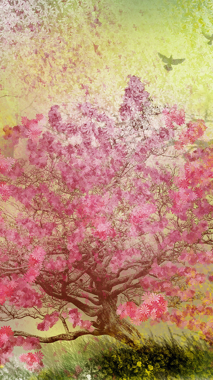 Papers.co-iPhone5-iphone6-plus-wallpaper-ai11-flower-spring-art-illust-happy