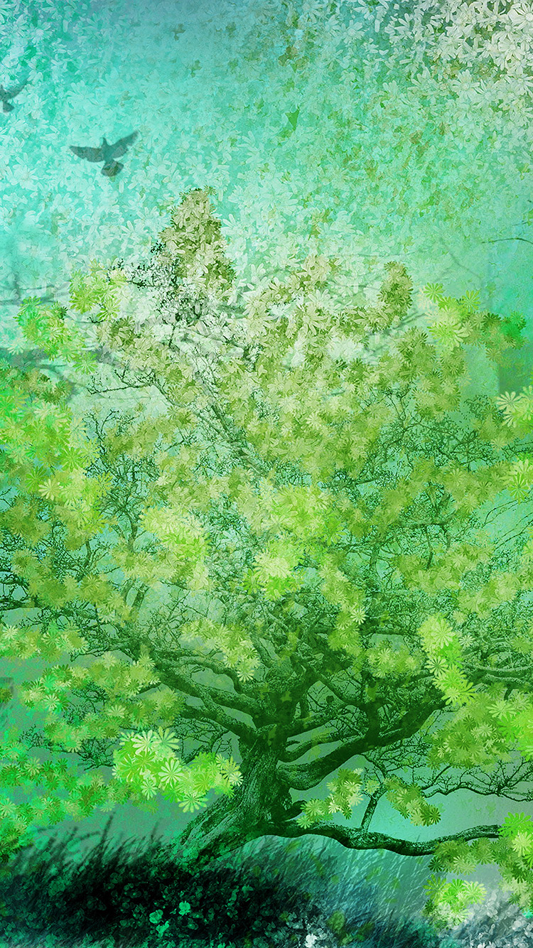 iPhone6papers.co-Apple-iPhone-6-iphone6-plus-wallpaper-ai12-flower-spring-art-green-illust-happy