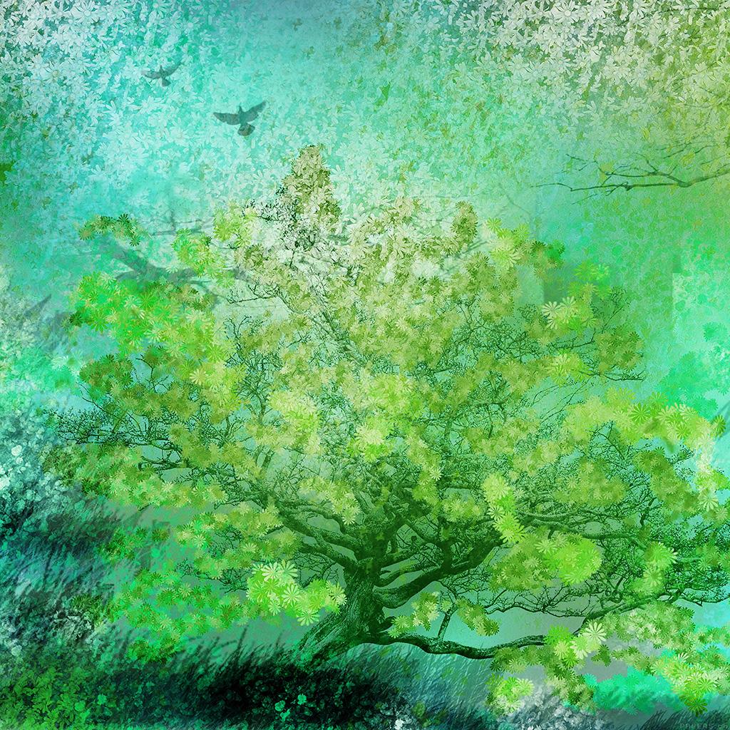 wallpaper-ai12-flower-spring-art-green-illust-happy-wallpaper