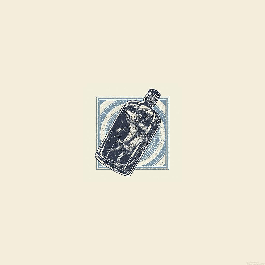 android-wallpaper-ai19-rat-in-bottle-art-illust-cute-minimal-wallpaper