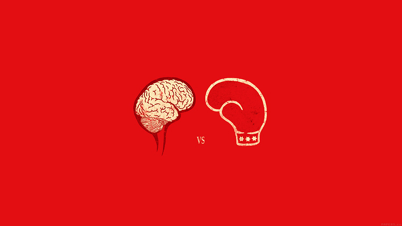 iPapers.co-Apple-iPhone-iPad-Macbook-iMac-wallpaper-ai22-brain-vs-boxing-illust-minimal-art-wallpaper