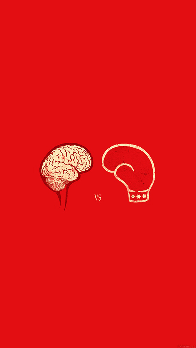 iPhone6papers.co-Apple-iPhone-6-iphone6-plus-wallpaper-ai22-brain-vs-boxing-illust-minimal-art