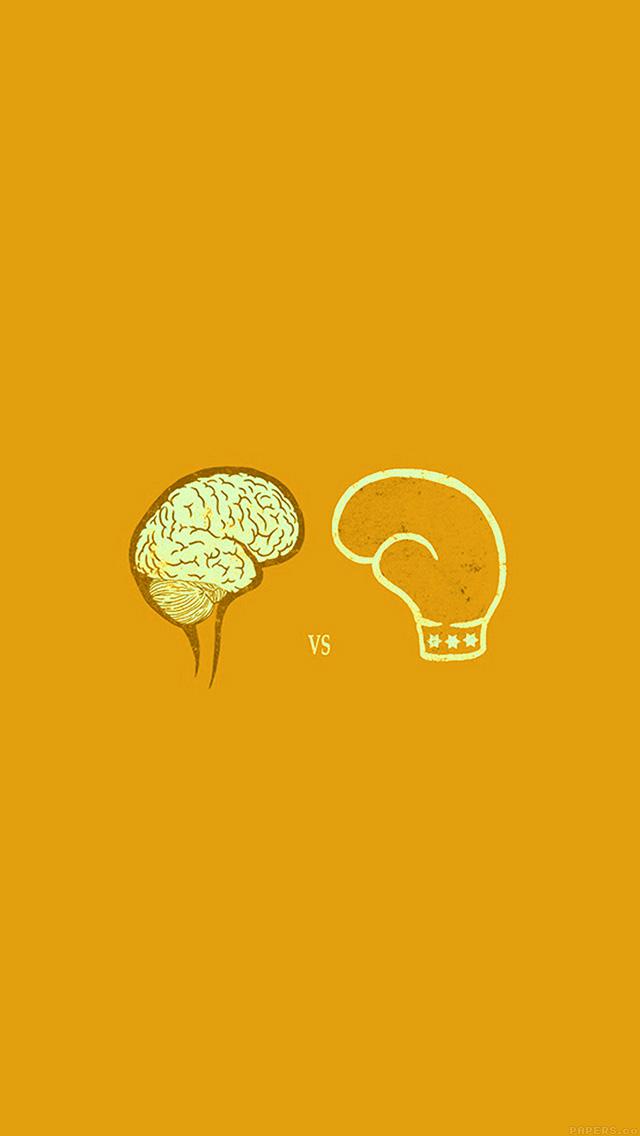freeios8.com-iphone-4-5-6-plus-ipad-ios8-ai23-brain-vs-boxing-illust-gold-minimal-art