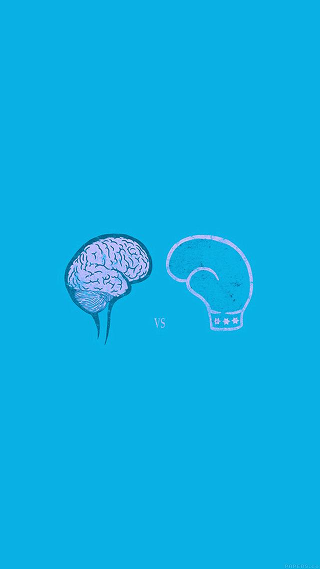 Ai24 brain vs boxing illust blue minimal art for Minimal art essay