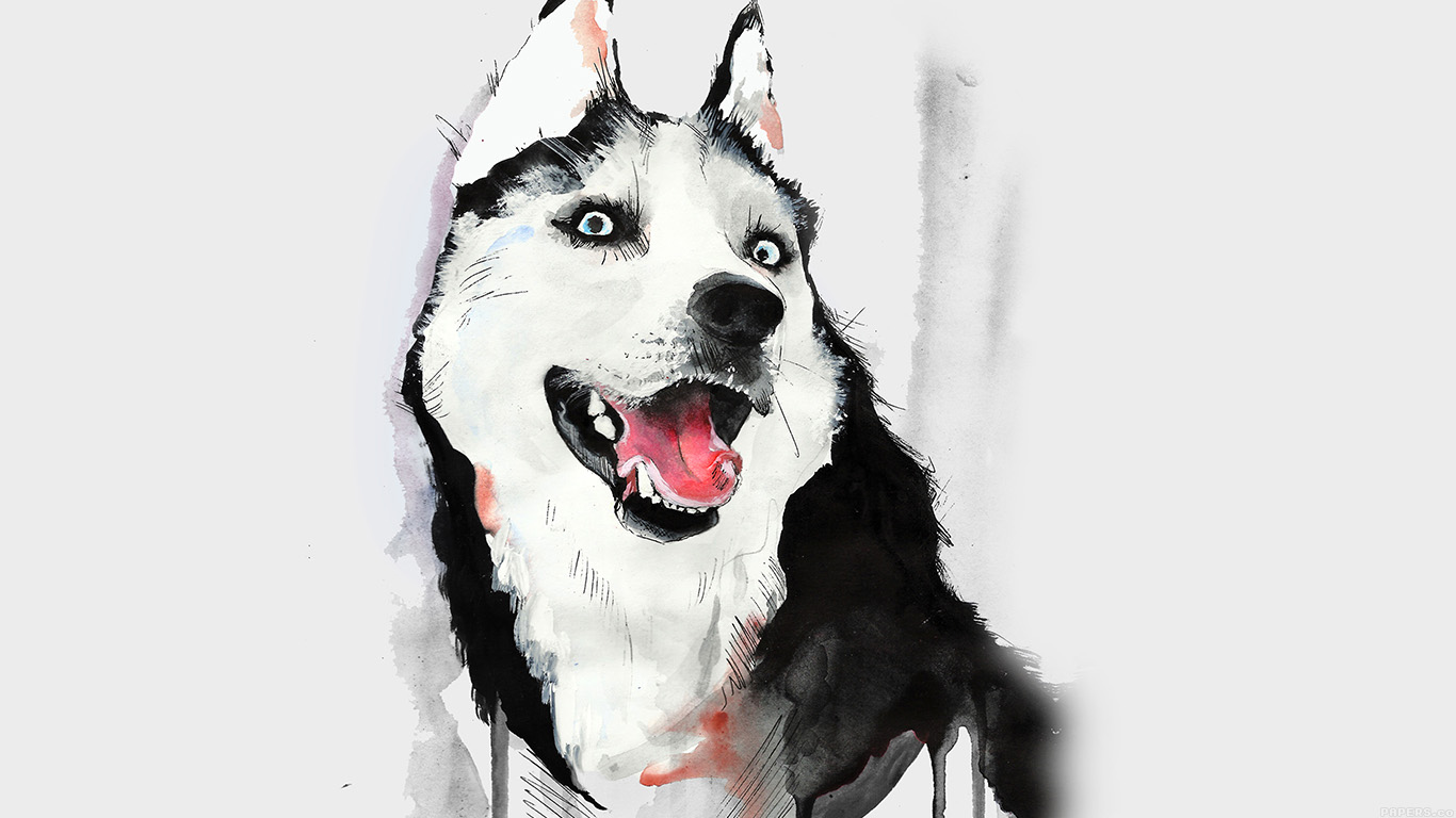 iPapers.co-Apple-iPhone-iPad-Macbook-iMac-wallpaper-ai25-happy-dog-husky-animal-illust-watercolor-wallpaper