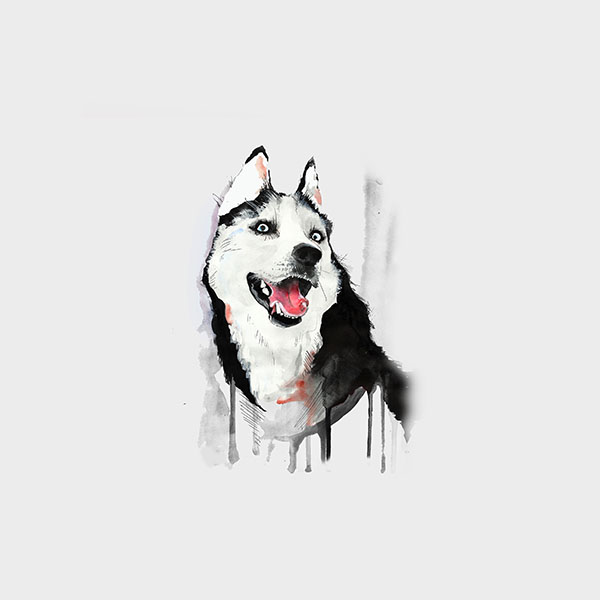 iPapers.co-Apple-iPhone-iPad-Macbook-iMac-wallpaper-ai26-happy-dog-white-husky-animal-illust-watercolor-wallpaper