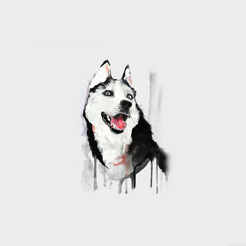 wallpaper-ai26-happy-dog-white-husky-animal-illust-watercolor-wallpaper
