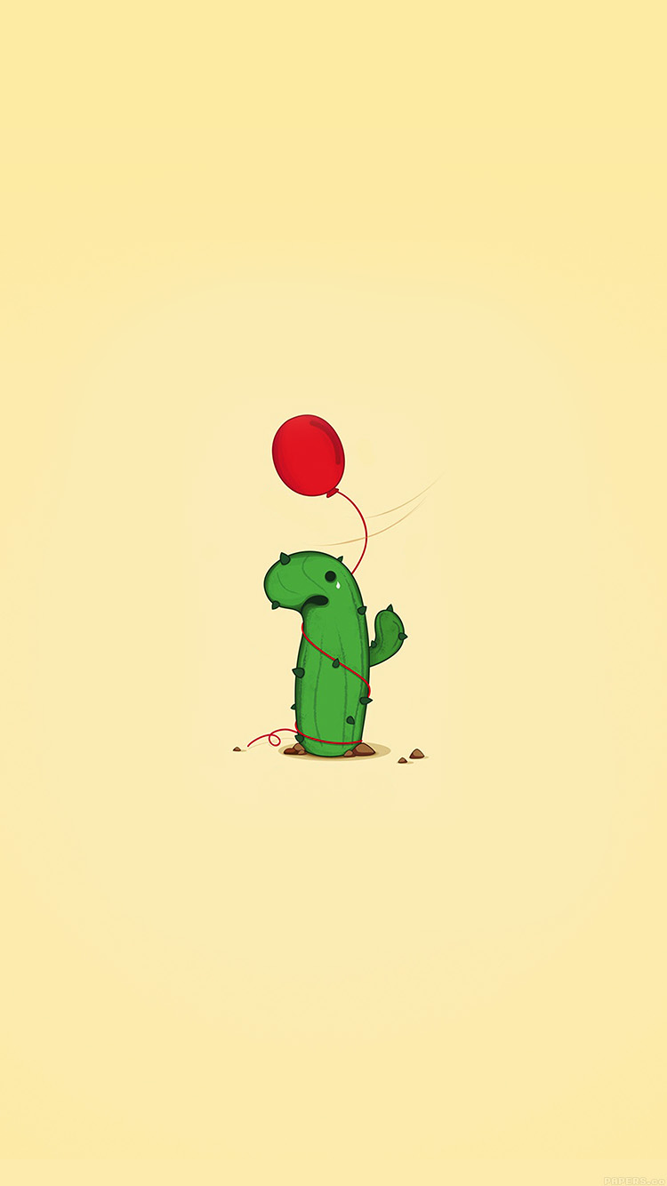 Papers.co-iPhone5-iphone6-plus-wallpaper-ai35-cute-cactus-ballon-illust-art-minimal