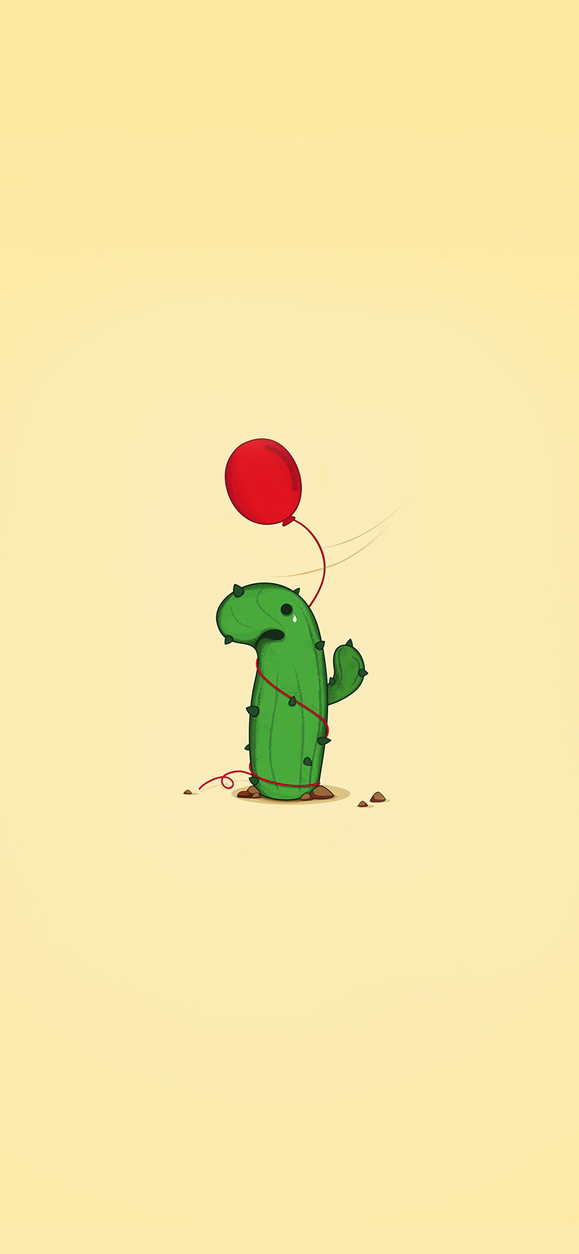 Iphonexpapers Ai35 Cute Cactus Ballon Illust Art Minimal
