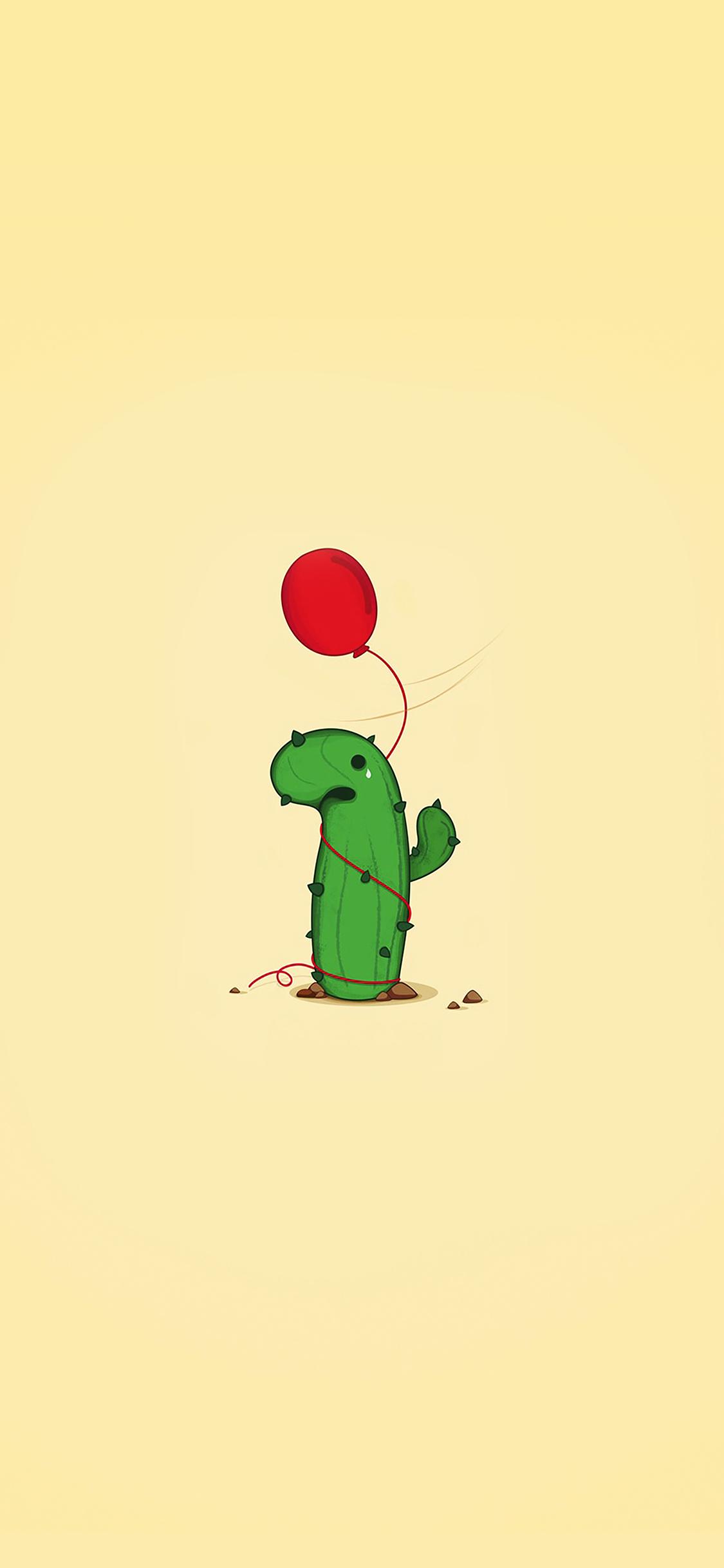 Ai35 Cute Cactus Ballon Illust Art Minimal Papers Co